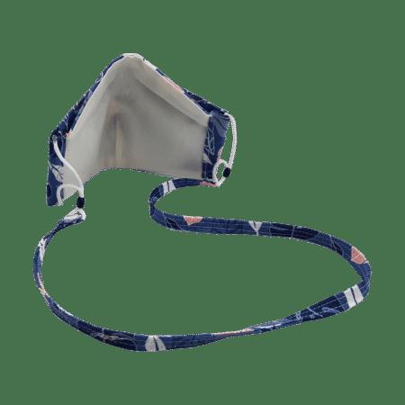 100% Cotton Triple Layer Blue Leafy Face Mask