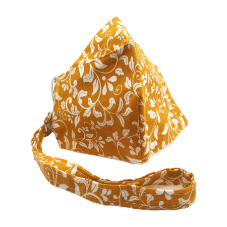 100% Cotton Dual Layer Yellow & White Flowery Face Mask