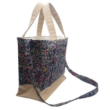 100% Cotton & Canvas Multi-Coloured Floral Design Handbag